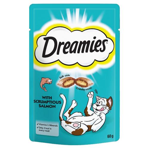 Dreamies CT хапки за котка със Сьомга Multi Pack