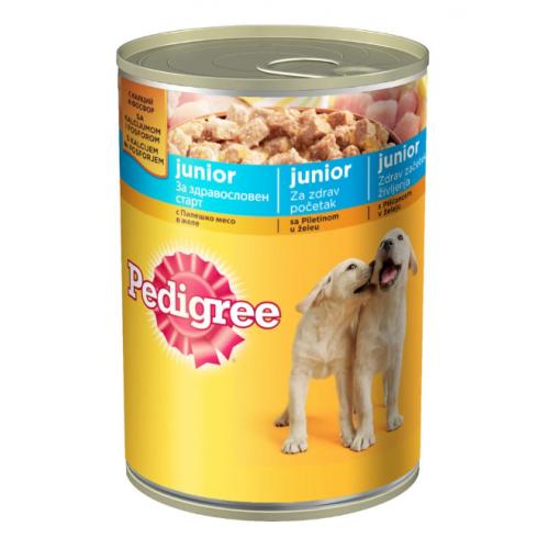 Консерва Pedigree за малки кученца с пилешко