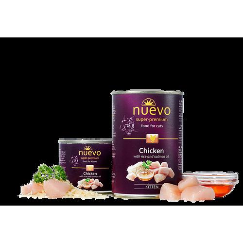 Консерва NUEVO китън с пилешко и ориз