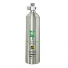 CO2 бутилка 2L с кран и предпазен клапан - Алуминиева